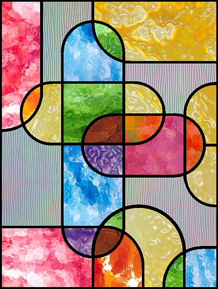 geometric color staind glass pattern
