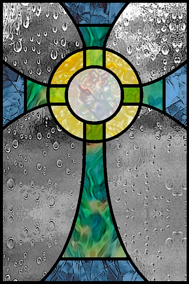 simple cross stained glass pattern