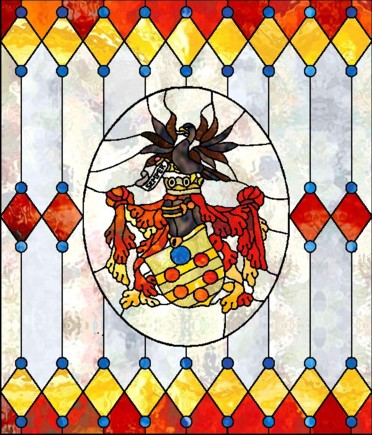 De medici s full coat of arms stained glass pattern