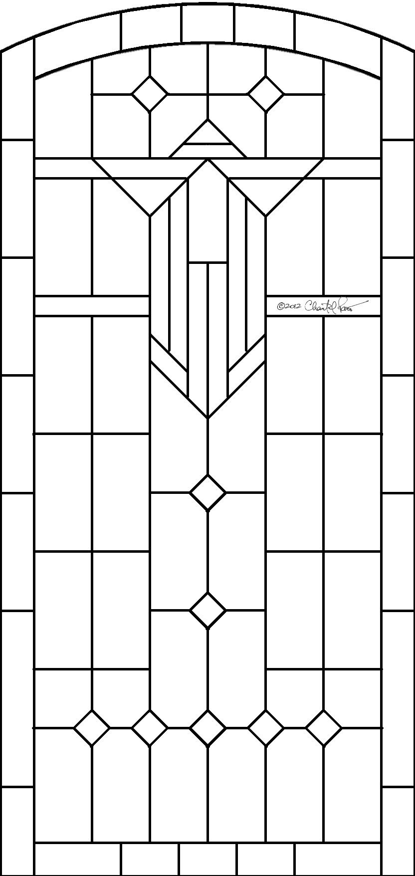 glas in lood stained glass pattern